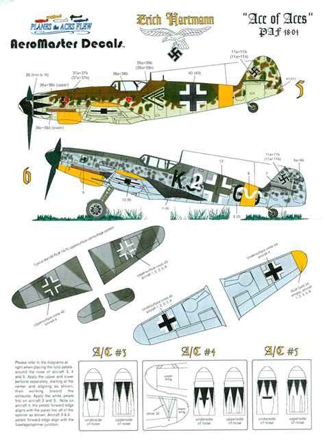 """AeroMaster PAF4804 - """"Ace of Aces"""" Erich Hartmann (Planes"""