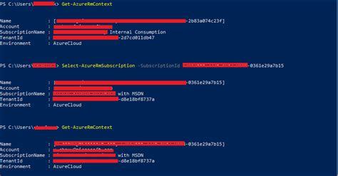 powershell - Microsoft Azure: How to change subscriptions