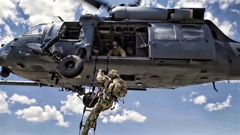 Pararescue Trainees • Pave Hawk Helicopter Training - YouTube