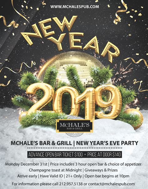 New Year's Eve 2019 Party at McHale's Bar   Times Square