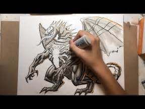 Venom Dragon Speed Drawing Using Copic Markers - YouTube