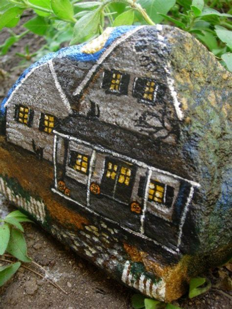 43 best Painted Rocks - Buildings and Houses images on