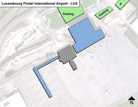 Luxembourg Findel LUX Airport Terminal Map