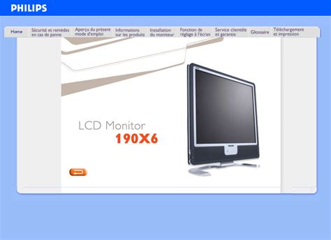 Philips Flat Panel Television 190X6 User Guide