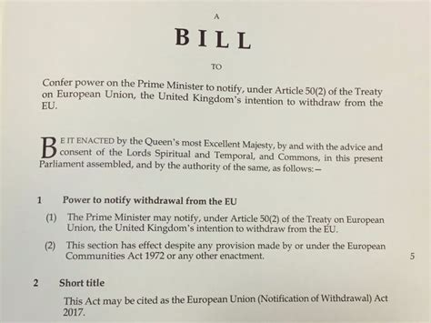 Brexit bill introduced to the House of Commons - ITV News