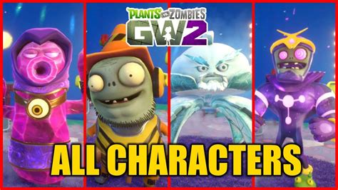 Plants vs Zombies Garden Warfare 2 BETA - All Character