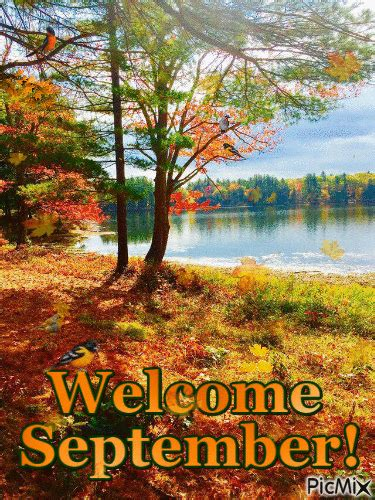 Autumn Pond Welcome September Gif Pictures, Photos, and