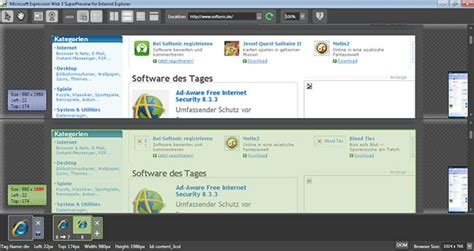 Microsoft Expression Web SuperPreview for Windows Internet