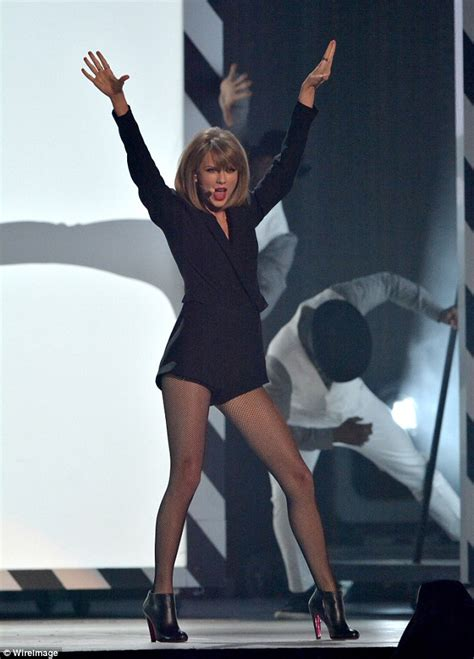 BRIT awards star Taylor Swift opens the live show in a
