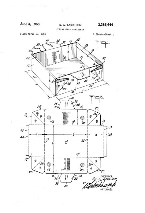 Patent US3386644 - Collapsible container - Google Patentsuche