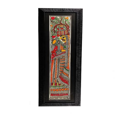Shop Authentic Madhubani Artwork Kalash Ke Sath Nari Painting