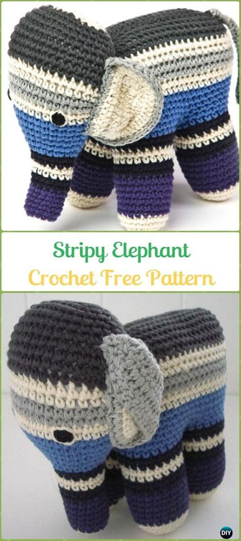 Crochet Elephant Softie and More Free Patterns Tutorials