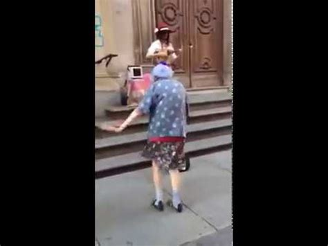 97 year old women dancing in the streets on Italy - YouTube