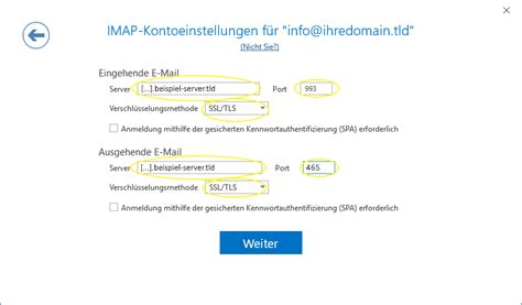 Anleitung: IMAP E-Mail Konto in Microsoft Outlook 2016