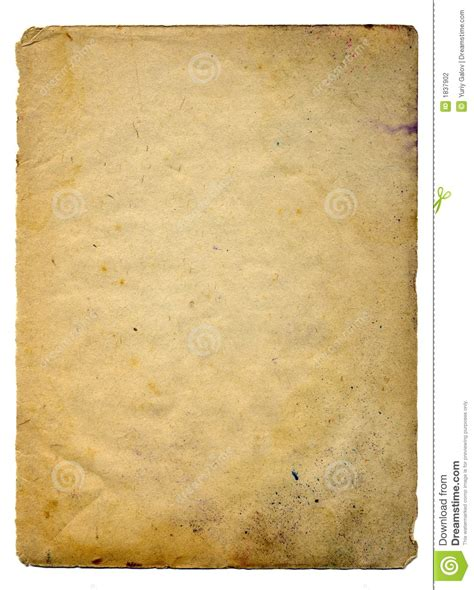 Scan Of Old Paper Stock Photography - Image: 1837902