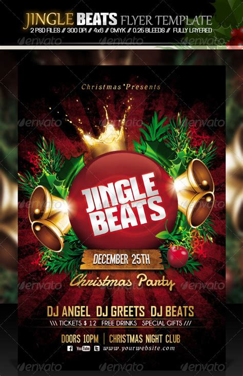 25 Christmas & New Year Party PSD Flyer Templates | Web