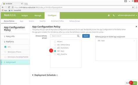 Depoyment of Threema Work Managed App Configuration in